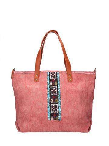 Damska Torebka ekologiczna A4 Glamour MQ8453 różowy