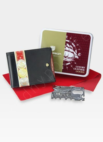 Duży Portfel Męski Peterson 304  + Ninja Card