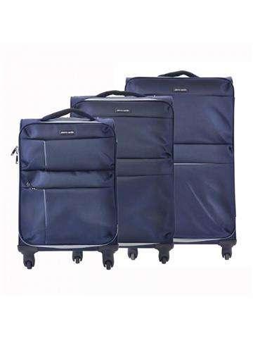 Komplet walizek 3 w 1 A4 Pierre Cardin DAVID03 SH-6907 x3 Z niebieski
