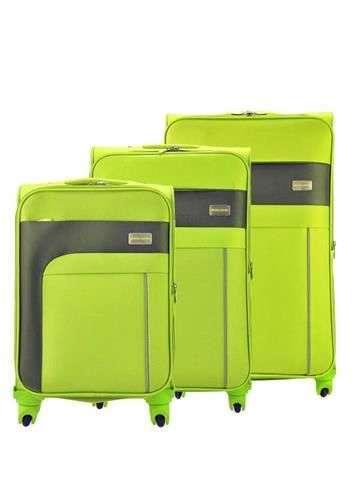 Komplet walizek 3w1 A4 Pierre Cardin FG1472 ARCHI02 zielony
