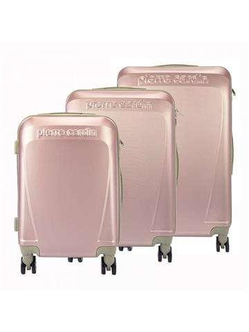 Komplet walizek 3w1 Pierre Cardin ABS1256 RUIAN10 x3 Z różowy