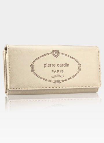 Luksusowy Modny Portfel Damski Pierre Cardin Beż