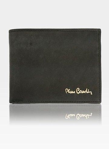 Mały Cienki Portfel Męski Pierre Cardin Skórzany Tilak28 8824 RFID Czarny