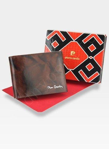 Męski Portfel Skórzany Modny na Prezent Pierre Cardin  Tilak12 325 RFID Pudełko
