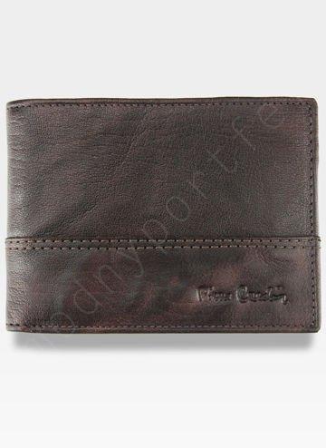 Modny Portfel Męski Pierre Cardin Oryginalny Skórzany Tilak24 8806 Ciemny Brąz RFID