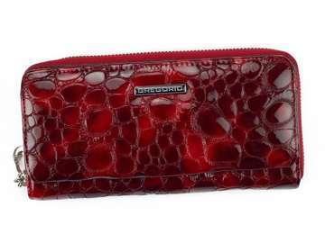 Portfel Damski Skórzany Gregorio FZ-111 czerwony Skóra Naturalna Lakierowana