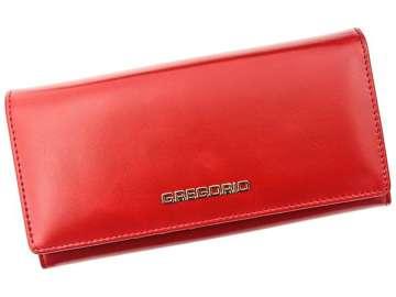 Portfel Damski Skórzany Gregorio N106 czerwony Skóra Naturalna