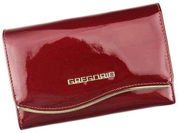 Portfel Damski Skórzany Gregorio ZLF-112 czerwony Skóra Naturalna Lakierowana