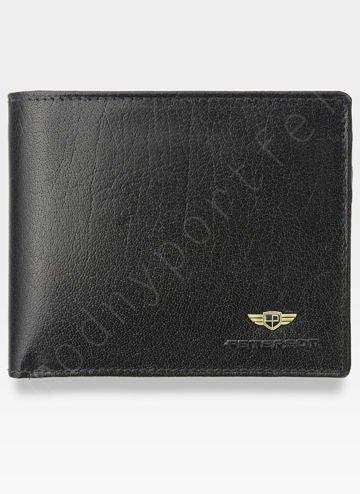 Portfel Męski Peterson Skórzany Poziomy Wyjątkowy Ukryte Karty 380