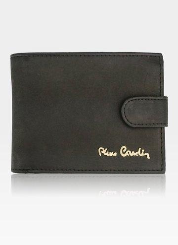 Portfel Męski Pierre Cardin Skórzany Klasyczny Zapinany Tilak28 323A RFID Czarny