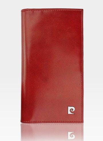 Portfel Skórzany Męski Pierre Cardin Czarny Duży YS507.10  3011 Czerwony
