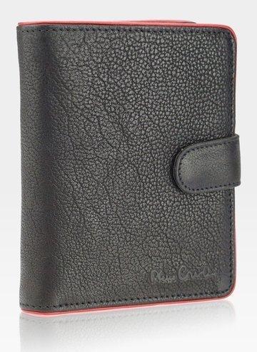 Portfel męski skórzany  Pierre Cardin Tumble 326A RFID Black+red