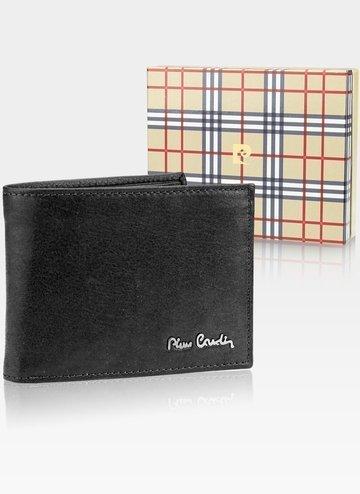 Skórzany portfel męski Pierre Cardin Tilak50 8806 RFID Czarny