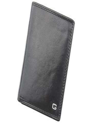 Stylowy skórzany portfel męsk iGregorio N4-CV RFID czarny