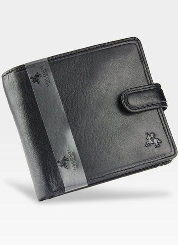 Viscont Bezpieczny Portfel Męski Skórzany Czarny RFID TSC42