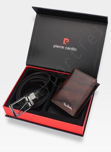 Zestaw Prezentowy Pierre Cardin Pasek i Portfel w eleganckim pudełku na prezent 326 RFID