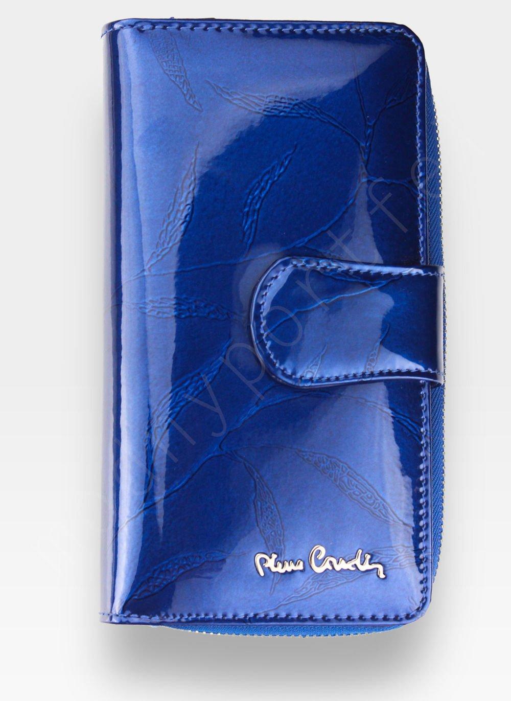 bb92e3460c841 Portfel Damski Pierre Cardin Skórzany Niebieski w Liście 116 Pierre ...