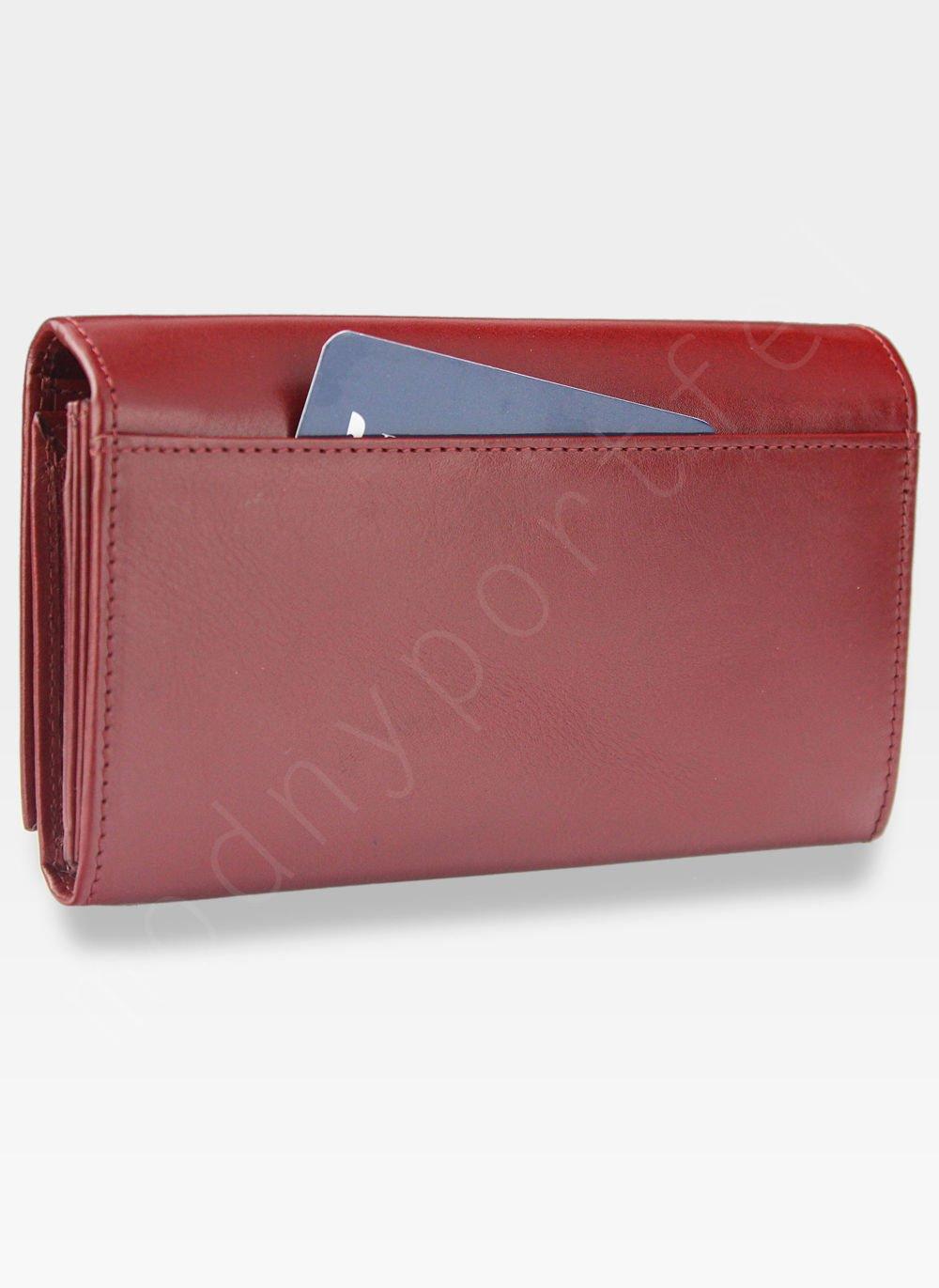 f9be1d999358 ... Portfel Damski Skórzany PUCCINI Rozbudowany Czerwony Dla Leworęcznych MU  1706 Kliknij