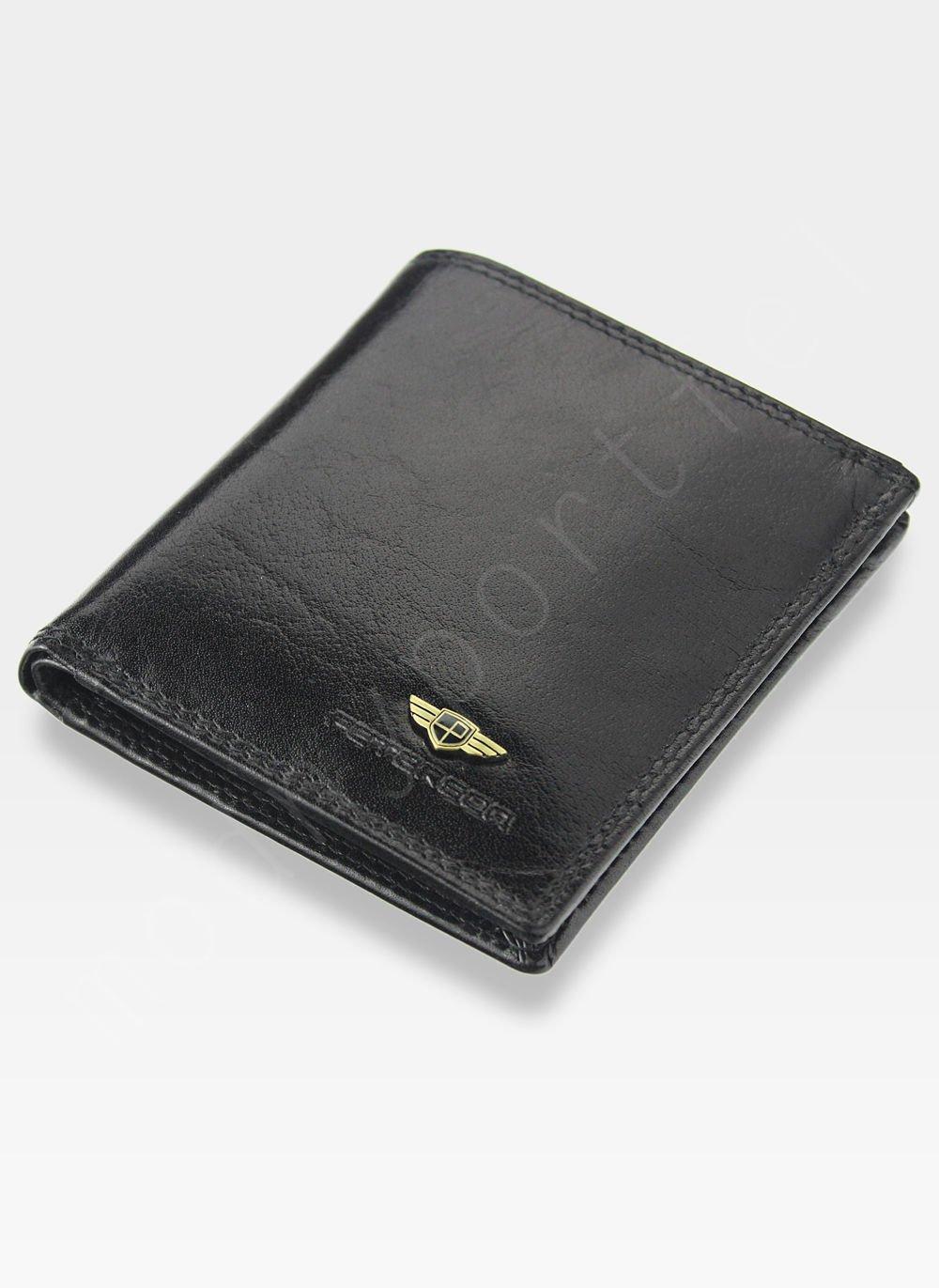 17f67306d4622 Portfel Męski Peterson Skórzany 377 Czarny RFID STOP Piekiełko 377 2 ...