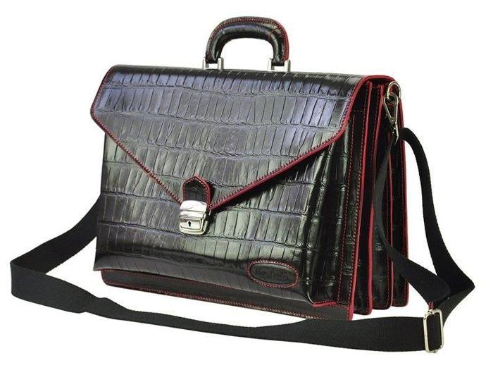 A4 Pierre Cardin 1027 RM02 COCCO czarny + czerwony