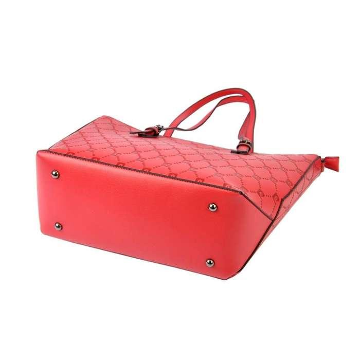 Damska Torebka ekologiczna A4 Pierre Cardin LF02 F291 czerwony