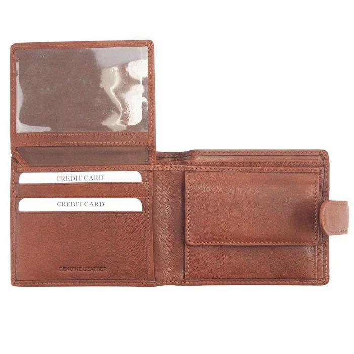 Klasyczny portfel męski skórzany EL FORREST G-73-26 brązowy