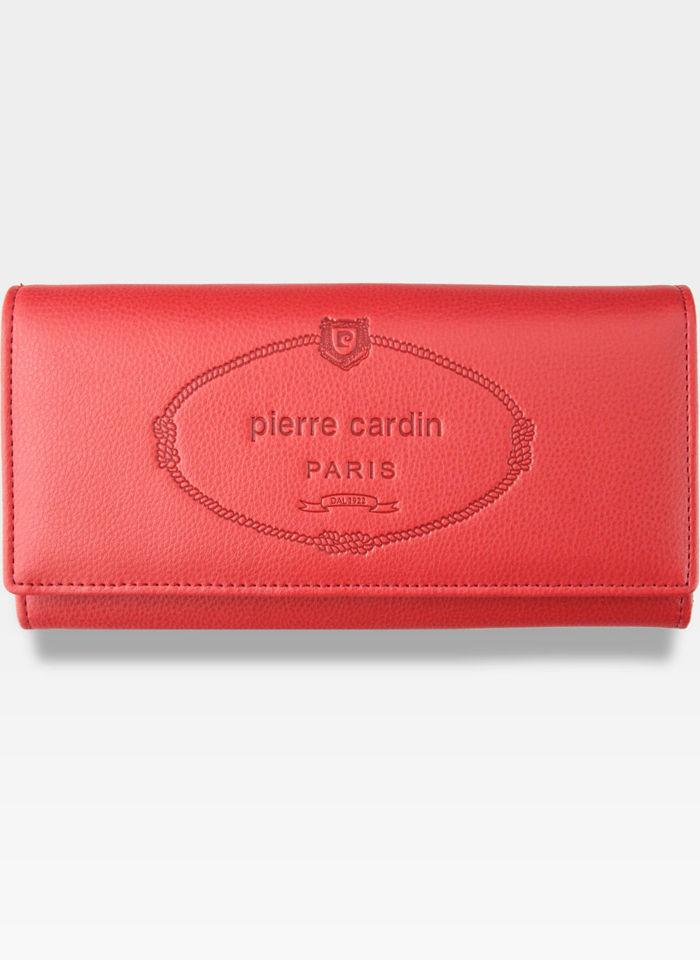Luksusowy Modny Portfel Damski Pierre Cardin Koral