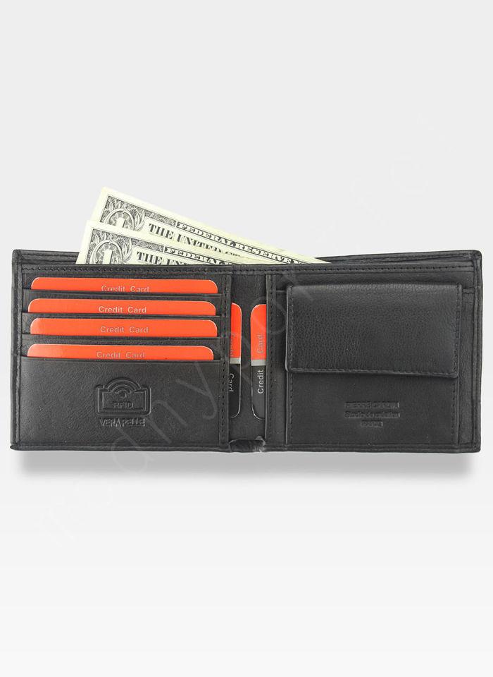 Męski portfel prawdziwa skóra Blue Mirror Pierre Cardin Tilak37 8824 RFID