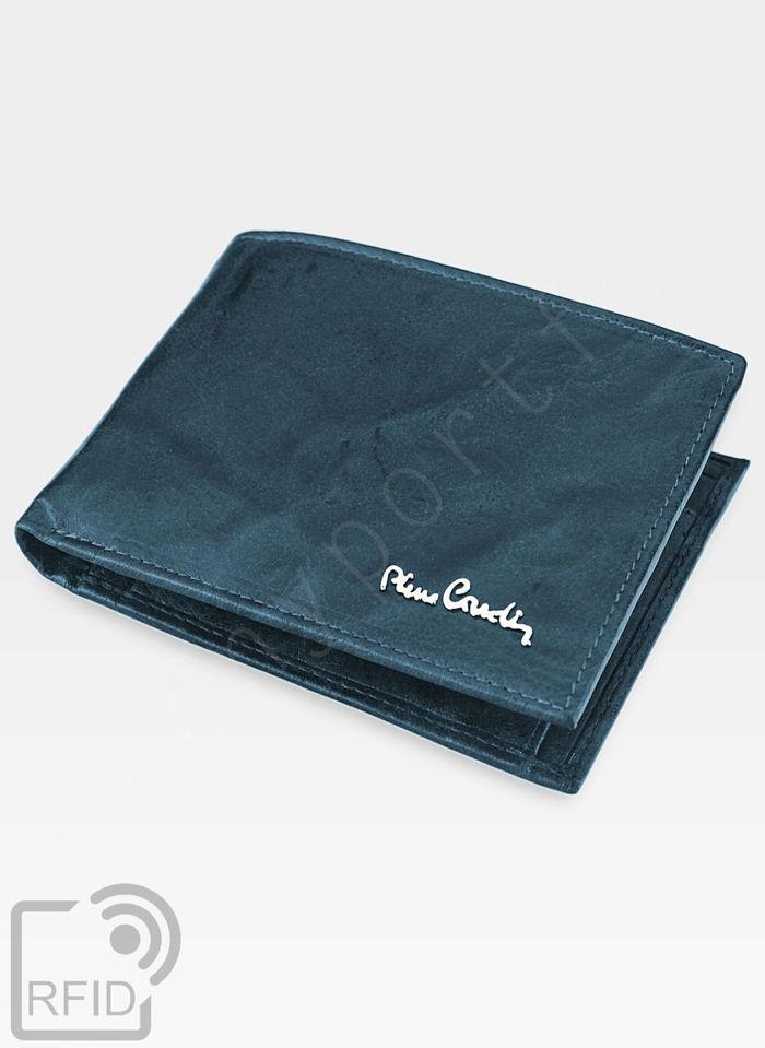 Modny Portfel Męski Pierre Cardin Oryginalny Skórzany Tilak12 8806 Niebieski RFID