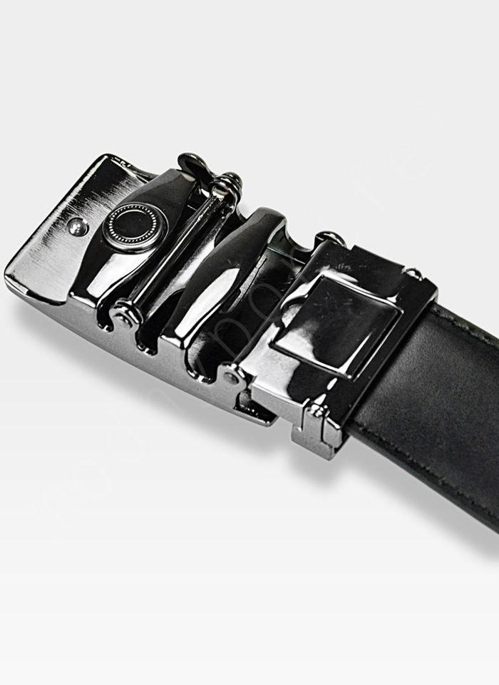 Pasek Skórzany Męski PIERRE CARDIN Czarny Metalowa Klamra Automatyczna