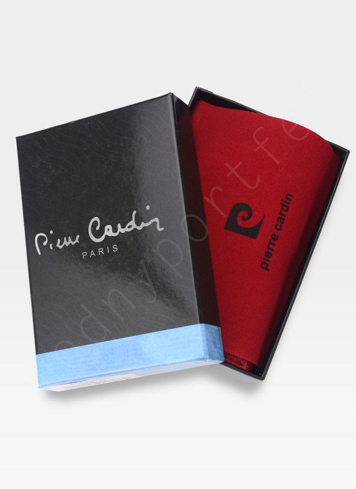 Portfel Damski Pierre Cardin Skórzany Czerwony w Liście 04 Plant 115