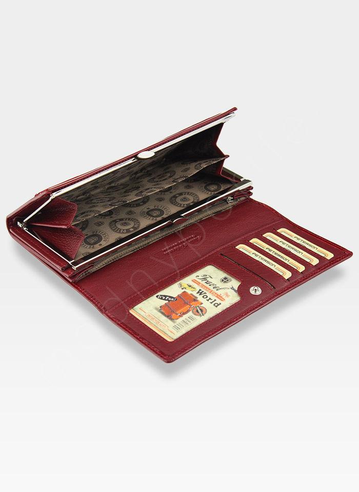 Portfel Damski Skórzany PETERSON 467 Czerwony