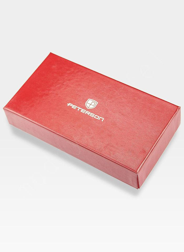 Portfel Damski Skórzany PETERSON 820 Czerwony