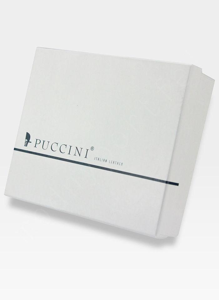 Portfel Firmowy Dzielony Męski Skórzany Puccini Ciemny Brąz MU1900