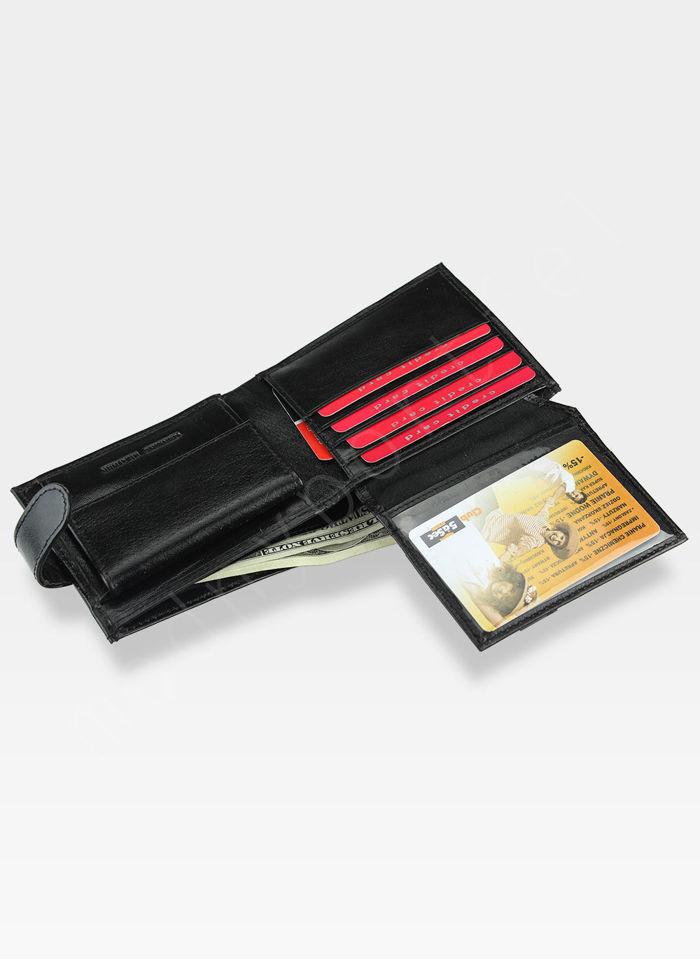 Portfel Męski A-Art Elegancki Klasyczny 3495-04/091 Czarny RFID
