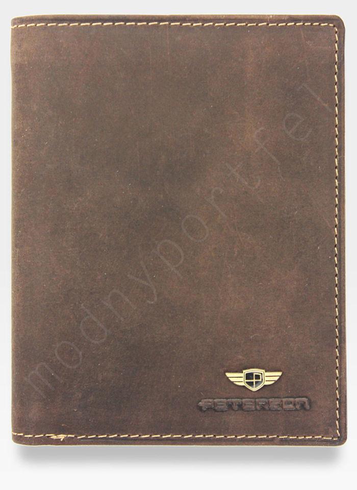 Portfel Męski Peterson Skórzany 348 Mieści Dowód Rejestracyjny w Etui System RFID!