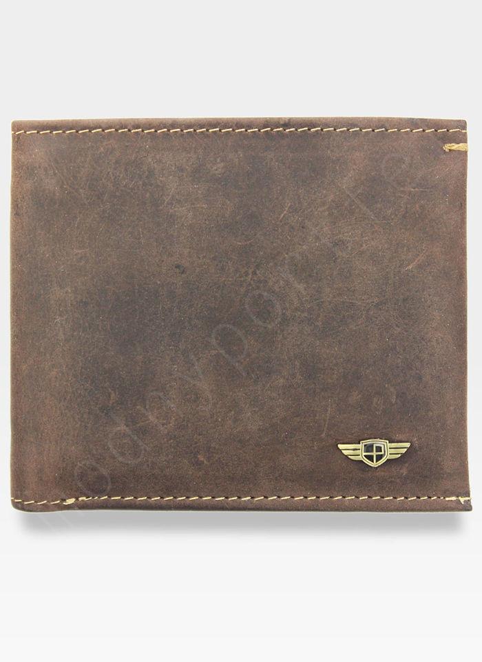 Portfel Męski Peterson Skórzany 366 Nubuk Mały Zgrabny RFID