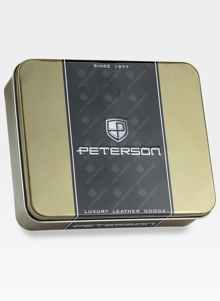 Portfel Męski Peterson Skórzany Ciemny Braz 507
