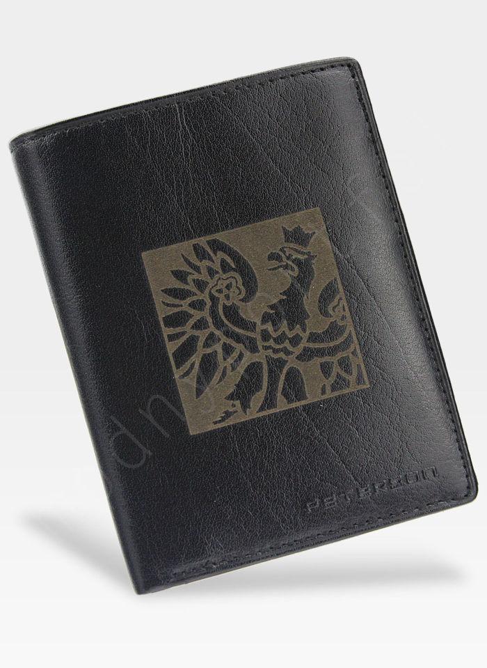 Portfel Męski Peterson Skórzany Czarny 339 Orzeł
