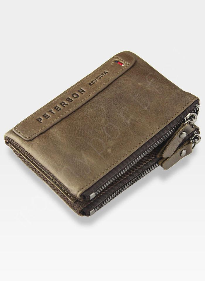 Portfel Męski Peterson Skórzany Miękki Skóra Naturalna 8115 Brązowy