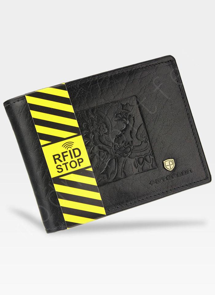 Portfel Męski Peterson Skórzany Orzeł Polska Seria Patriotyczna System RFID 304