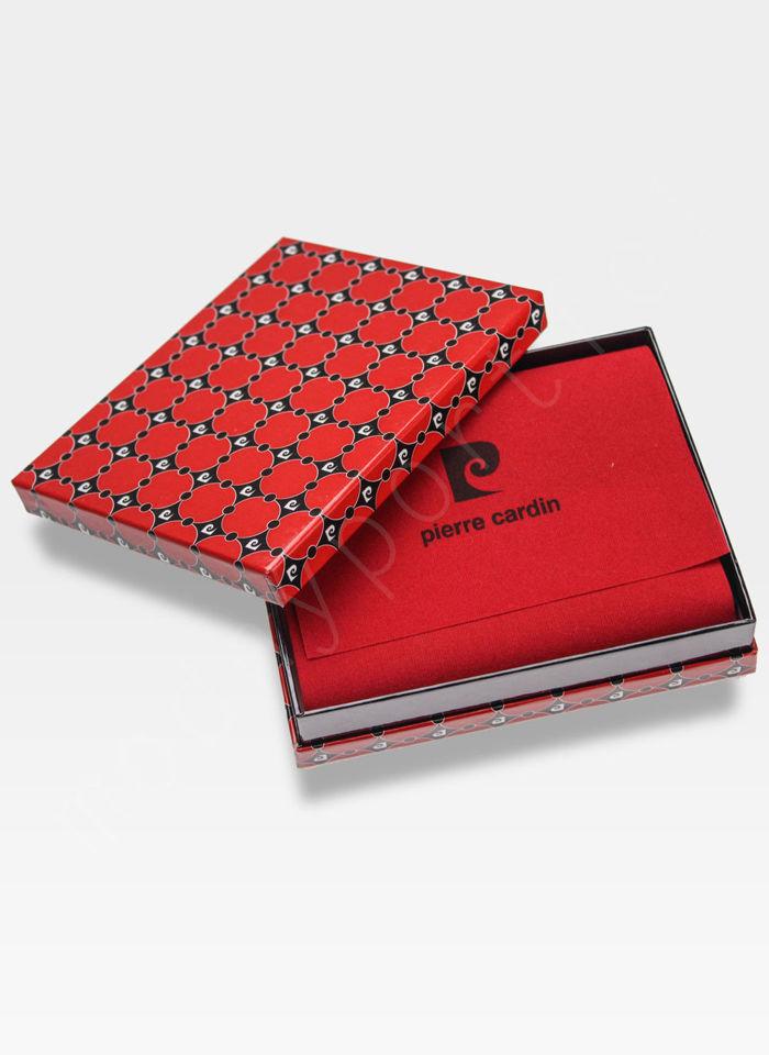 Portfel Męski Pierre Cardin Skórzany Klasyczny Zapinany Tilak26 323A Sahara RFID
