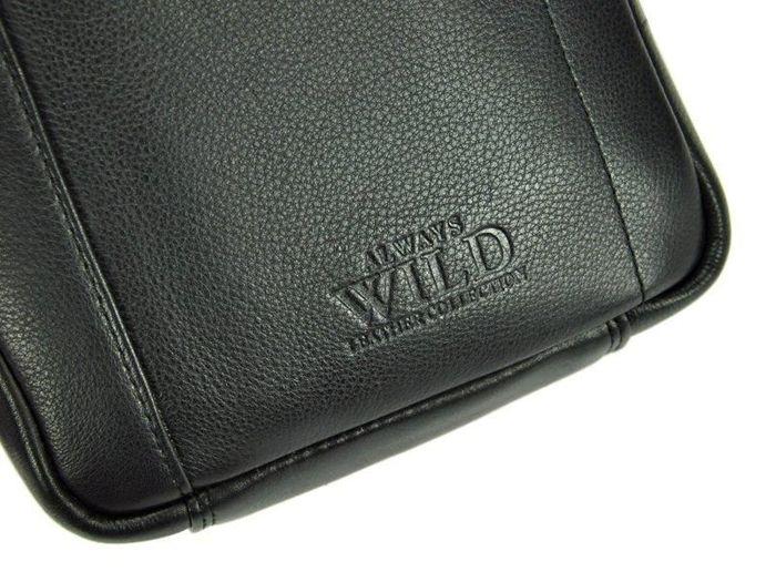 Saszetka Męska Skórzana Wild 8020-NDM czarna