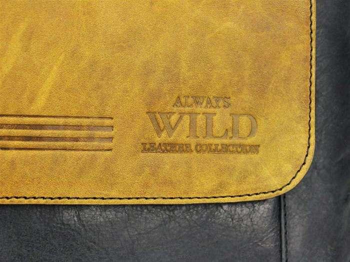SaszetkaMęska Skórzana Always Wild BAG-4-HB czarna