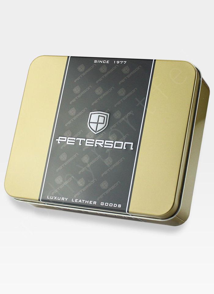 Skórzana Podkówka Na Drobne Peterson 619 Ciemny Brąz