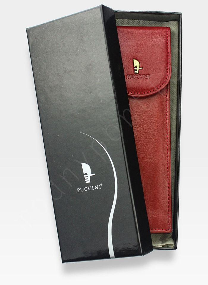 Skórzane Etui Na Długopis PUCCINI Czerwone 1802P