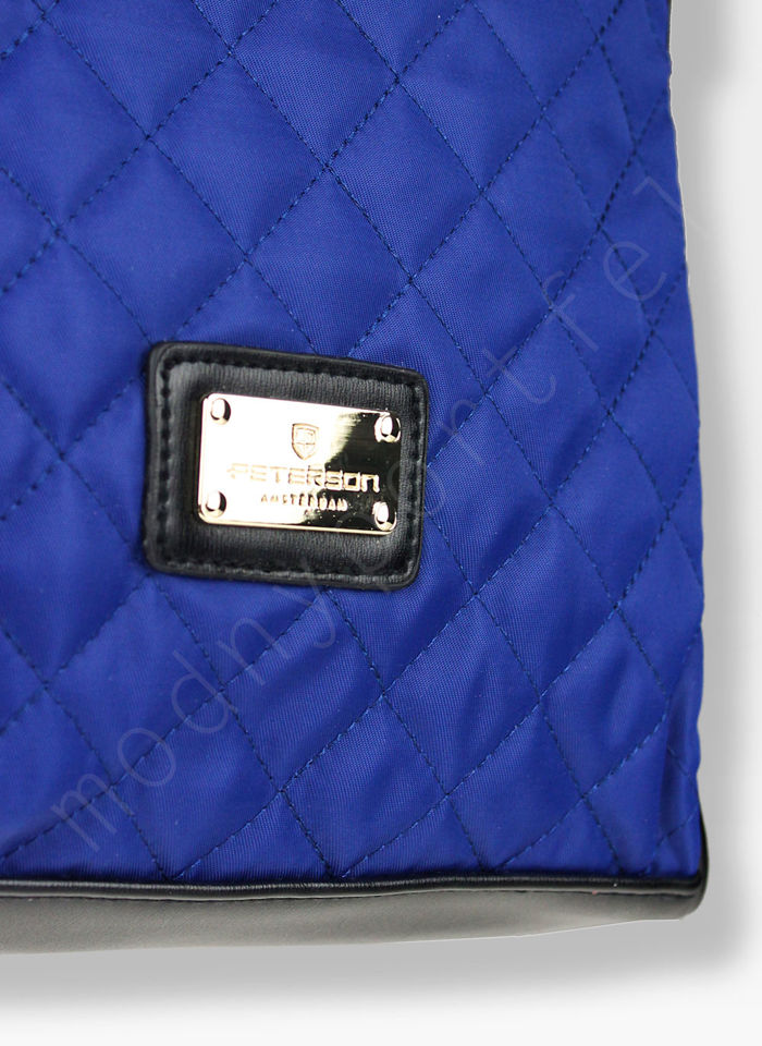 Torebka Klasyczna na ramię Peterson Noble 8 Czarno Niebieska