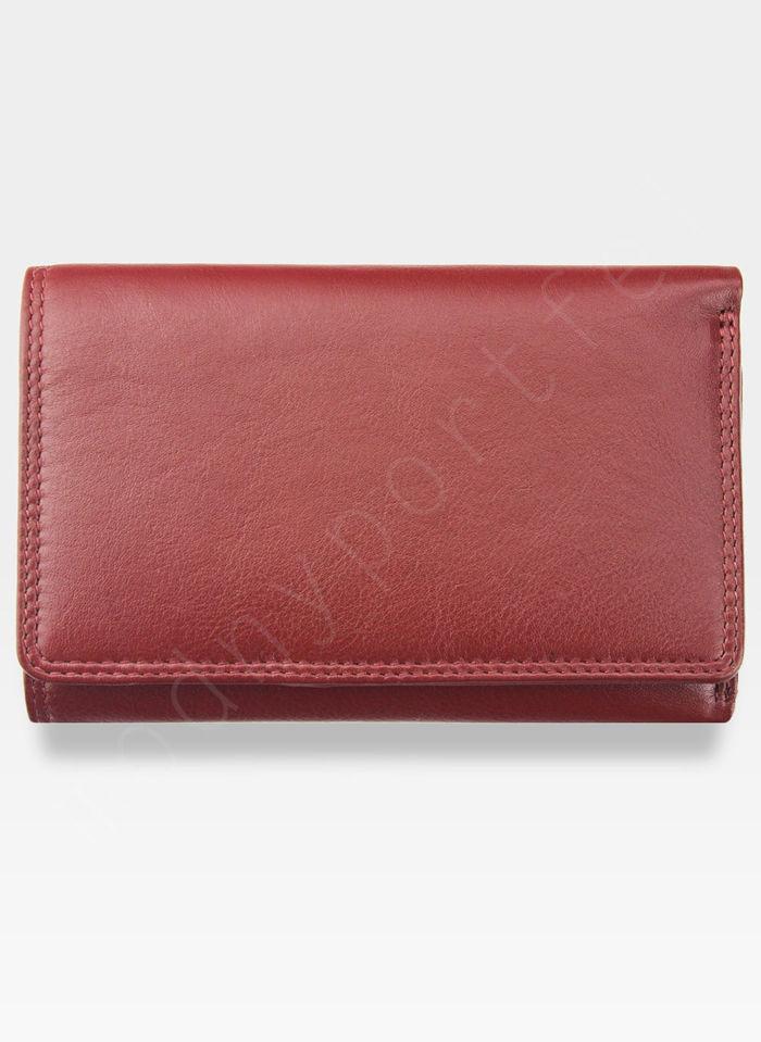 Visconti Portfel Damski Skórzany Heritage HT32 Czerwony