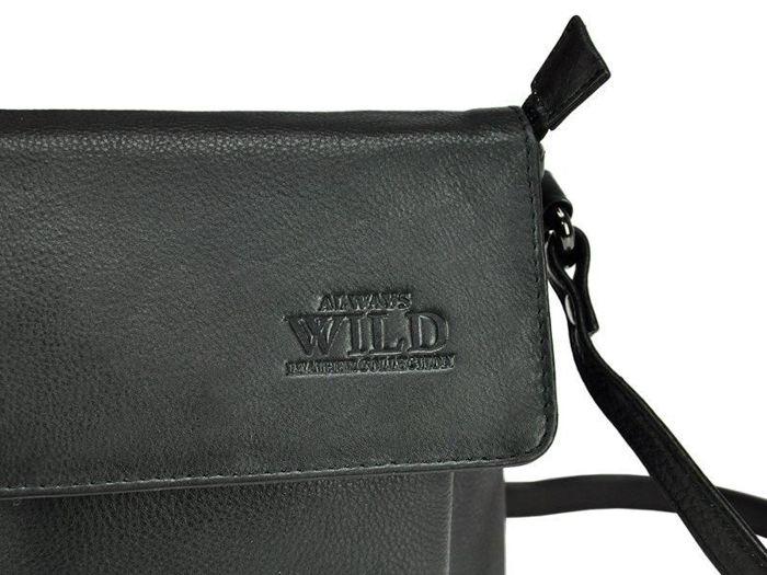Saszetka  Męska Skórzana Wild 012-NDM czarna