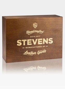 Eleganckie drewniane pudełko prezentowe STEVENS